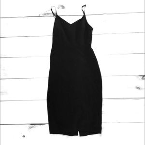1. State Spaghetti Strap Black Mini Dress
